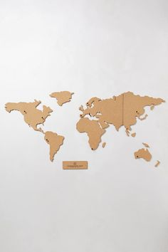 Corkboard Map: Anthropologie ... A lovely way to mark all of those places that you have traveled-or wish to travel.