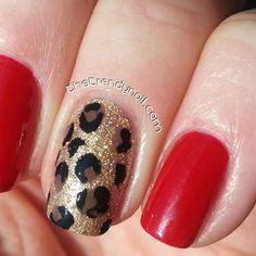 DIY Trendy Nail- Animal Print Accent Nail