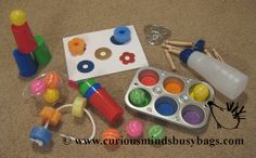 Babies First Busy Bags  Bags for 13 Months by CuriousMindsBusyBags, $25.00
