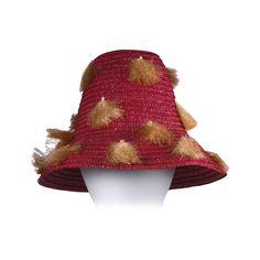 7a64a8e15ea0 Italian Fuschia Straw and Raffia Beach Hat
