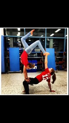 Sister yoga!!!! I want to do this with my younger sister