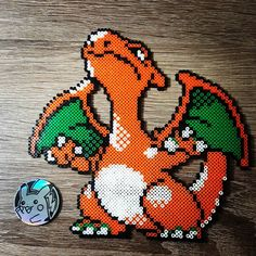 Charizard Pokemon perler beads by poke_a_pika