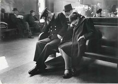 Sleeping Passengers, Greyhound Bus Terminal, New York City, ca 1949, Esther Bubley. American (1921 - 1998)