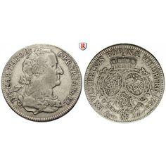 Pfalz, Kurpfalz, Karl Theodor, Konventionstaler 1758, ss: Karl Theodor 1743-1799. Konventionstaler 1758 Mannheim. Ausbeute der Grube… #coins