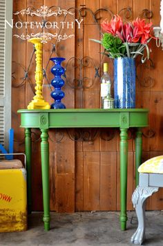 Kelly Green, Entry Table, Emerald, Painted Furniture, Color of the Year, Console Table, Noteworthy Home