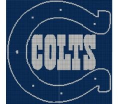 Indianapolis Colts Crochet Afghan Pattern Graph