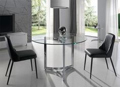 Modern Round Glass Dining Table Choice of Size by Angel Cerda - See more at: https://www.trendy-products.co.uk/product.php/6291/modern-round-glass-dining-table-choice-of-size-by-angel-cerda#sthash.wNg5PQ22.dpuf