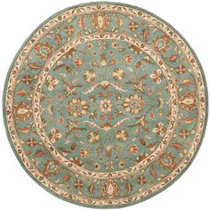 Safavieh Heritage Blue 6 ft. x 6 ft. Round Area Rug