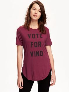 Best election year shirt yet! VOTE FOR VINO - Old Navy
