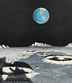 Like a painting - Charles Bittinger, Earth as seen from the moon, 1969