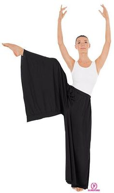 Eurotard 13696 Adult Palazzo Pants: Polyester pants has an elastic waist band and can be cut as needed to adjust length. No hemming is required. These comfortable palazzo pants are essential for your performance wardrobe. Dance Leggings, Dance Pants, Dance Tights, Dance Shirts, Modern Dance Costume, Girls Dance Costumes, Dance Outfits, Dance Dresses, Party Dresses