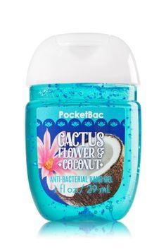 Cactus Flower & Coconut PocketBac Sanitizing Hand Gel - A beautiful blend of cactus flower & coconut