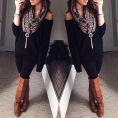 fall/winter outfit that necklace is a hell no but everything else I'm okay with.