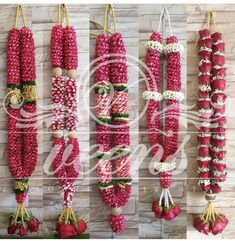 Indian Wedding Flowers, Flower Garland Wedding, Rose Garland, Floral Garland, Flower Garlands, Desi Wedding Decor, Simple Wedding Decorations, Wedding Mandap, Flower Decorations
