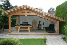 Pergola Over Front Door Product Backyard Pavilion, Backyard Patio Designs, Backyard Landscaping, Backyard Retreat, Outdoor Buildings, Garden Buildings, Outdoor Structures, Pergola Carport, Gazebo