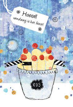 Morgenster wenskaart 'Feestje', ontworpen voor de wenskaarten serie Family & Friends van uitgeverij Ark Media