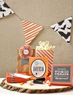 free printables | Halloween party decor and treat bag labels