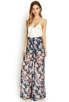 Floral Print Wide-Leg Pants | FOREVER21 - 2000107531