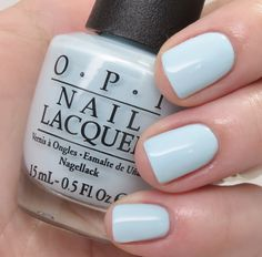 opi it's a Boy! — This pale baby blue gave opaque coverage in just two coats.