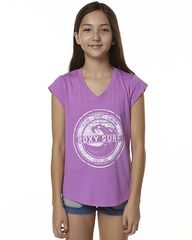 ROXY KIDS GIRLS SURF TEE - WILD ORCHID