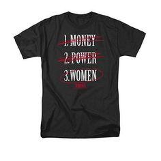 Scarface Money Power Women Black T-Shirt