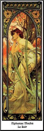 Le Soir by Alphonse Mucha