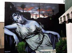 'El Mac' Southwest Goddess Street Art based on Diana the Huntress by Gamond #Phoenix, USA