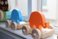wooden elephant toys