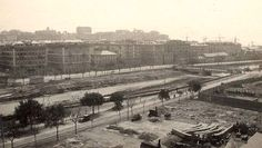 """Il fiume è il Bisagno, prima che pensassero di """"tombarlo"""" e di costruirci sopra la stazione Brignole GENOVA - Borgo Pila - FOTO STORICHE CARTOLINE ANTICHE E RICORDI DELLA LIGURIA"""