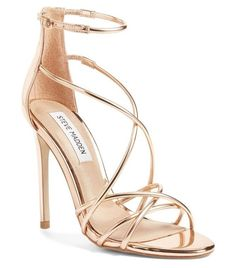 The Most In-Demand Red Carpet Heels (and Where to Score Them for a Lot Less!) Shop the Hottest Red Carpet Shoes for Less - Steve Madden gold heels Black High Heels, High Heels Stilettos, Stiletto Heels, High Shoes, Women's Shoes, Gold Strappy Heels, Red Shoes, Rose Gold Shoes Heels, Star Shoes
