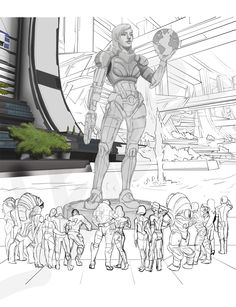 Shepard Monument WIP by SKJeter.deviantart.com on @deviantART... *cue the tears* - Great work - I really wanted this type of Star Wars swag moment at the end of ME3.
