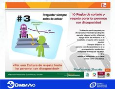 3ra. Regla de Cortesía y Respeto para las personas con discapacidad.