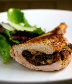 Balsamic Fig-Stuffed Pork Chops