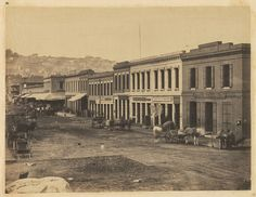 San Francisco, 1856. Photo by unknown. California Street.