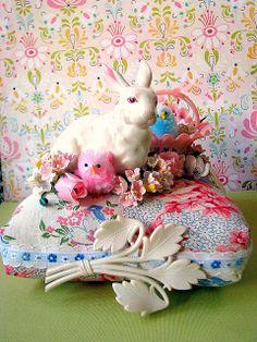 Bunny Basket Pin Cushion | Flickr - Photo Sharing!