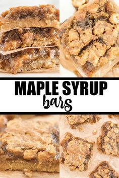 Sweet and sticky recipe for Maple Syrup Bars made with real maple syrup. Homemade Maple Syrup, Maple Syrup Recipes, Caramel Recipes, Maple Dessert Recipes, Maple Syrup Cookies, Maple Syrup Cake, Maple Cake, Baking Recipes, Cookie Recipes