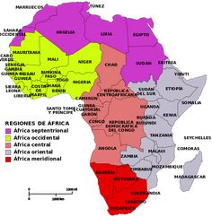 Map of African regions Uganda, Geography Map, African Countries, Guinea Bissau, Studyblr, African History, Sierra Leone, Places To Travel, Student