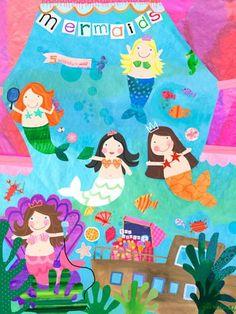 """""""Mermaid Performance"""" kids wall art by Jill McDonald for Oopsy daisy, Fine Art for Kids $119"""