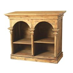 Versailles Double Wood Bookcase | Furniture and Mattress Outlet