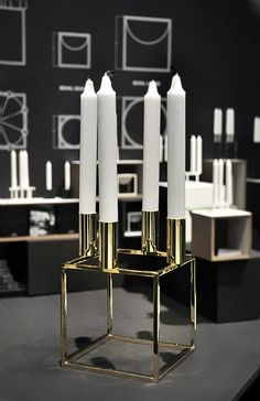 This Kubus designed by Mogens Lassen is now 50 years old - and comes in gold for the celebration. www.bylassen.com