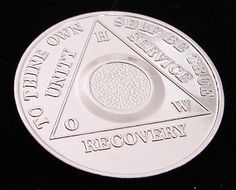 Alcoholics Anonymous Nickel Plated Blank Field Medallion Chip Coin Token | eBay