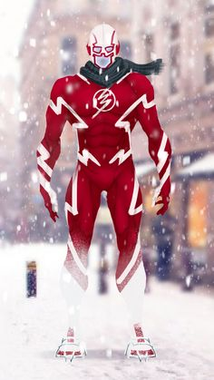 It's that time of year again, holiday themed quick redesigns coming your way till New Years Eve! Starting with the Flash! I wanted to do a candy cane style suit for him, including a covered face piece, scarf, and snow boots. Marvel And Dc Characters, Dc Comics Superheroes, Dc Comics Art, Superhero Suits, Superhero Design, Hero Costumes, Character Costumes, Ichigo Y Rukia, Ms Dhoni Photos