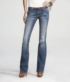 EXPRESS: Rerock Boot Cut Jean - Thick Stitch.  These are miracle worker jeans. I suggest trying for anyone who has issues finding jeans they love.