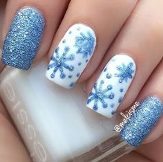 Imagem de nails and blue