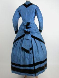 Killerton Fashion Collection © National Trust / Sophia Farley and Renée Harvey, 1870 1870s Fashion, Fashion Wear, Girl Fashion, Historical Costume, Historical Clothing, Historical Dress, National Trust, Victorian Women, Vintage Dresses