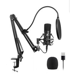 USB microphones started as gimmicks but have steadily risen in popularity and become standard tools of the trade. These microphones are used in home Best Usb Microphone, Macbook, Music Studio Room, Blue Led Lights, Pc Computer, Gaming Setup, Karaoke, Plugs, Picsart