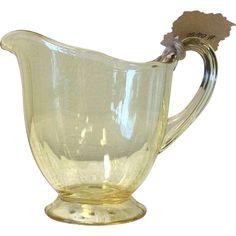 Vintage Creamer Yellow Depression Glass Creamer