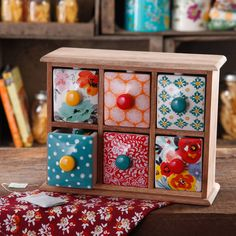 The Pioneer Woman Flea Market 6-Drawer Spice/Tea Box