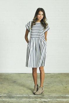 bib stripe dress