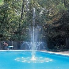 Above Ground Outdoor Indoor Waterfall Spray Sparkling 3-Tier Pool Fountain